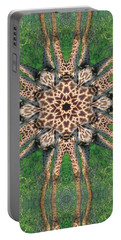 Giraffe Mandala II Portable Battery Charger by Maria Watt