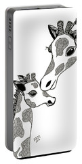 Giraffe Mom And Baby Portable Battery Charger