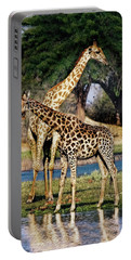 Giraffe Mother And Calf Portable Battery Charger
