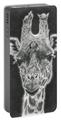 Giraffe Pencil Drawing Portable Battery Charger
