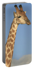 Portable Battery Charger featuring the photograph Giraffe Portrait by Karen Zuk Rosenblatt