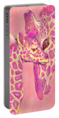 Giraffe Shades- Pink Portable Battery Charger by Jane Schnetlage