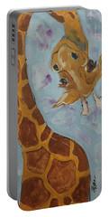 Giraffe Tall Portable Battery Charger by Terri Einer