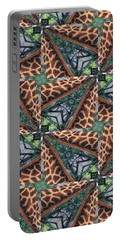 Giraffe Through The Window Portable Battery Charger by Maria Watt