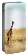 Giraffe Walking In Kenya Africa - Vertical Portable Battery Charger