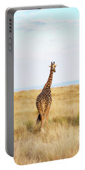 Giraffe Walking In Kenya Africa - Vertical Portable Battery Charger