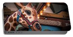 Giraffecarousel Portable Battery Charger by Lisa L Silva