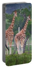 Giraffes In The Rain Portable Battery Charger