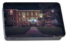 Portable Battery Charger featuring the photograph Girard Hall At Night by Gregory Daley  PPSA
