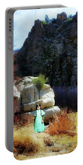 Girl At Piru Creek Portable Battery Charger by Timothy Bulone