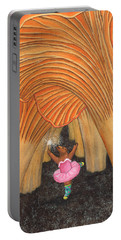 Girl Bear In Galoshes Portable Battery Charger