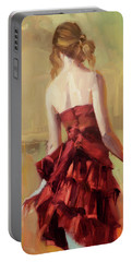 Girl In A Copper Dress II Portable Battery Charger