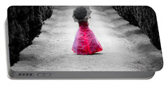 Girl In A Red Dress Portable Battery Charger