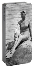 Girl In A Wetsuit Portable Battery Charger