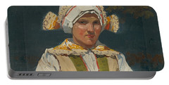 Girl In Costume, Antos Frolka, 1910 Portable Battery Charger