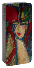 Girl In Darkness Portable Battery Charger