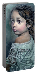 Girl In Lace Portable Battery Charger