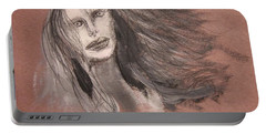Girl In Mixed Media Portable Battery Charger