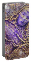 Girl In Purple Portable Battery Charger by Angela Stout