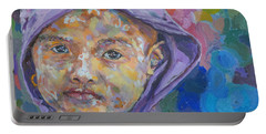 Burma Girl In Purple Portable Battery Charger