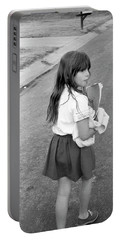 Girl Returns Home From School, 1971 Portable Battery Charger