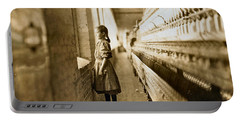 Girl Spinner 11 Years Old Rhodes Manufacturing Co Lincolnton 1908 Portable Battery Charger