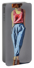 Girl Standing Portable Battery Charger