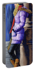 Girl Waiting Portable Battery Charger