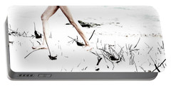 Girl Walking On Beach Portable Battery Charger
