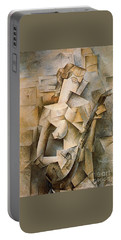 Girl With A Mandolin Portable Battery Charger by Picasso