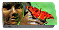 Girl With Butterfly Portable Battery Charger