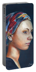 Girl With Headscarf Portable Battery Charger
