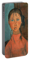 Girl With Pigtails Portable Battery Charger