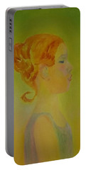 The Girl With The Curl Portable Battery Charger