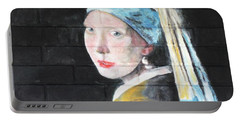 Girl With The Pearl Earring Portable Battery Charger