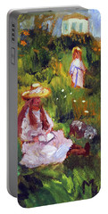 Girls In The Field, After Monet Portable Battery Charger