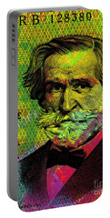 Giuseppe Verdi Portrait Banknote Portable Battery Charger