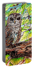 Give A Hoot Portable Battery Charger by Patricia L Davidson