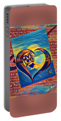 Give Love Portable Battery Charger by Vennie Kocsis