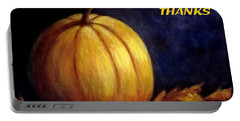 Give Thanks Autumn Painting Portable Battery Charger
