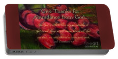 Give Thanks For Abundance From God Portable Battery Charger by Kimberlee Baxter