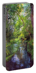 Giverny Paradise Portable Battery Charger by John Rivera