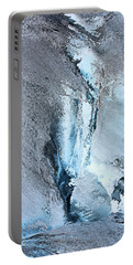 Glacial Abstract Portable Battery Charger by Kristin Elmquist