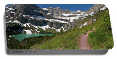 Portable Battery Charger featuring the photograph Glacier Backcountry Trail by Gary Lengyel