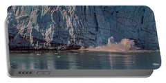 Portable Battery Charger featuring the photograph Glacier Bay Ice Calving by Brenda Jacobs