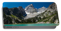 Glacier Fed Teton Lake Portable Battery Charger by Serge Skiba