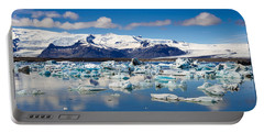 Portable Battery Charger featuring the photograph Glacier Lagoon In Iceland by Matthias Hauser