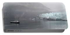 Portable Battery Charger featuring the photograph Glacier Ride by Zawhaus Photography
