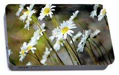 Portable Battery Charger featuring the photograph Glacier Wildflowers by Marty Koch