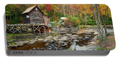 Glade Creek Grist Mill In Autumn Portable Battery Charger